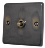 Standard Plate Aged Brass Toggle Light Switches
